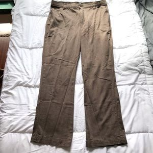 Lee Brown Dress Pants with Stretch Waistband